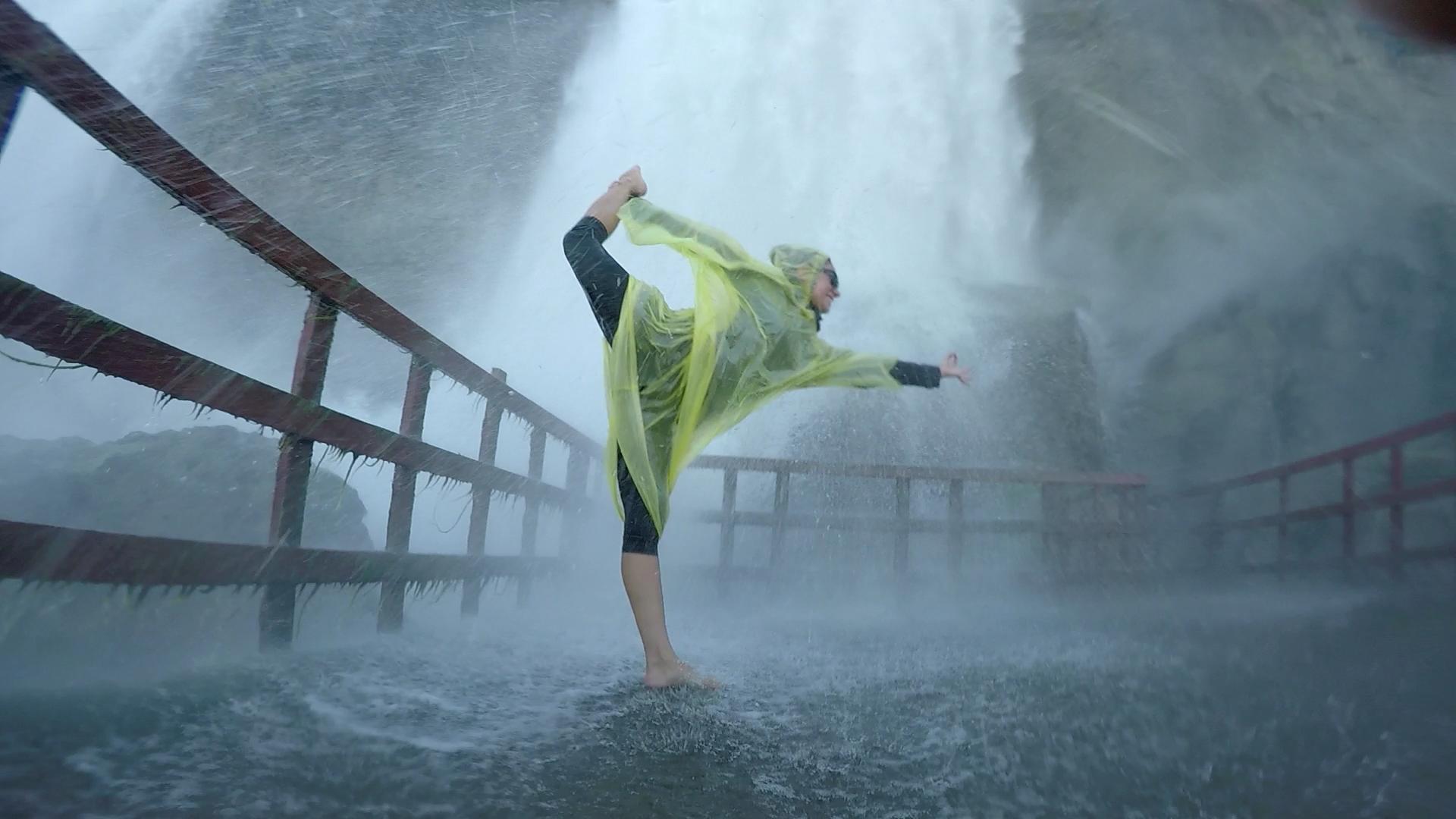 rain and yoga